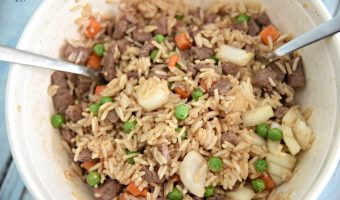 Beef Fried Rice-Air Fryer Recipe