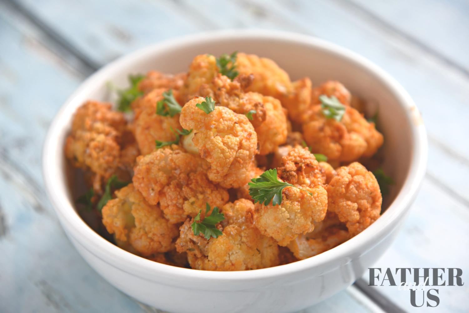 Buffalo Cauliflower Bites-All the flavor without the guilt!