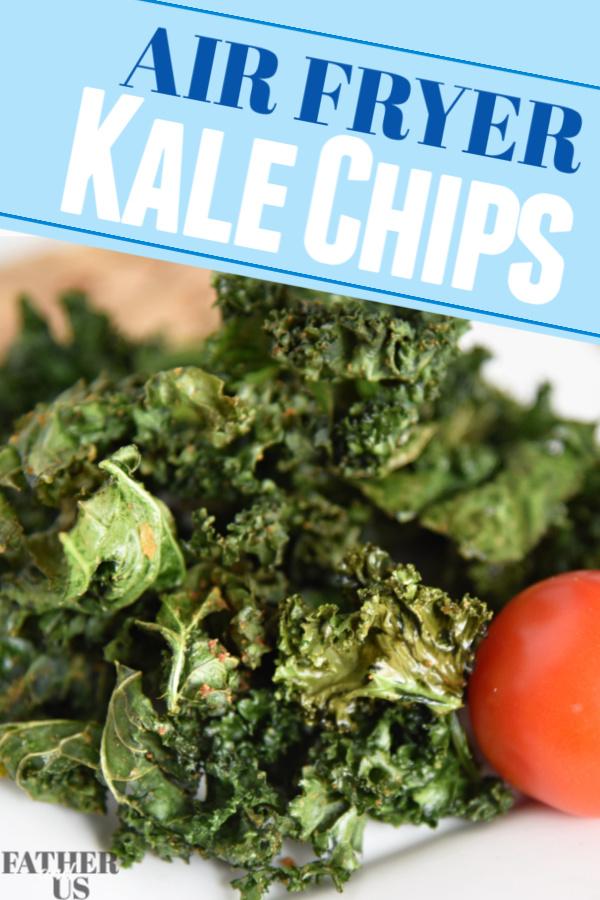 Air Fryer kale Chips pin 1