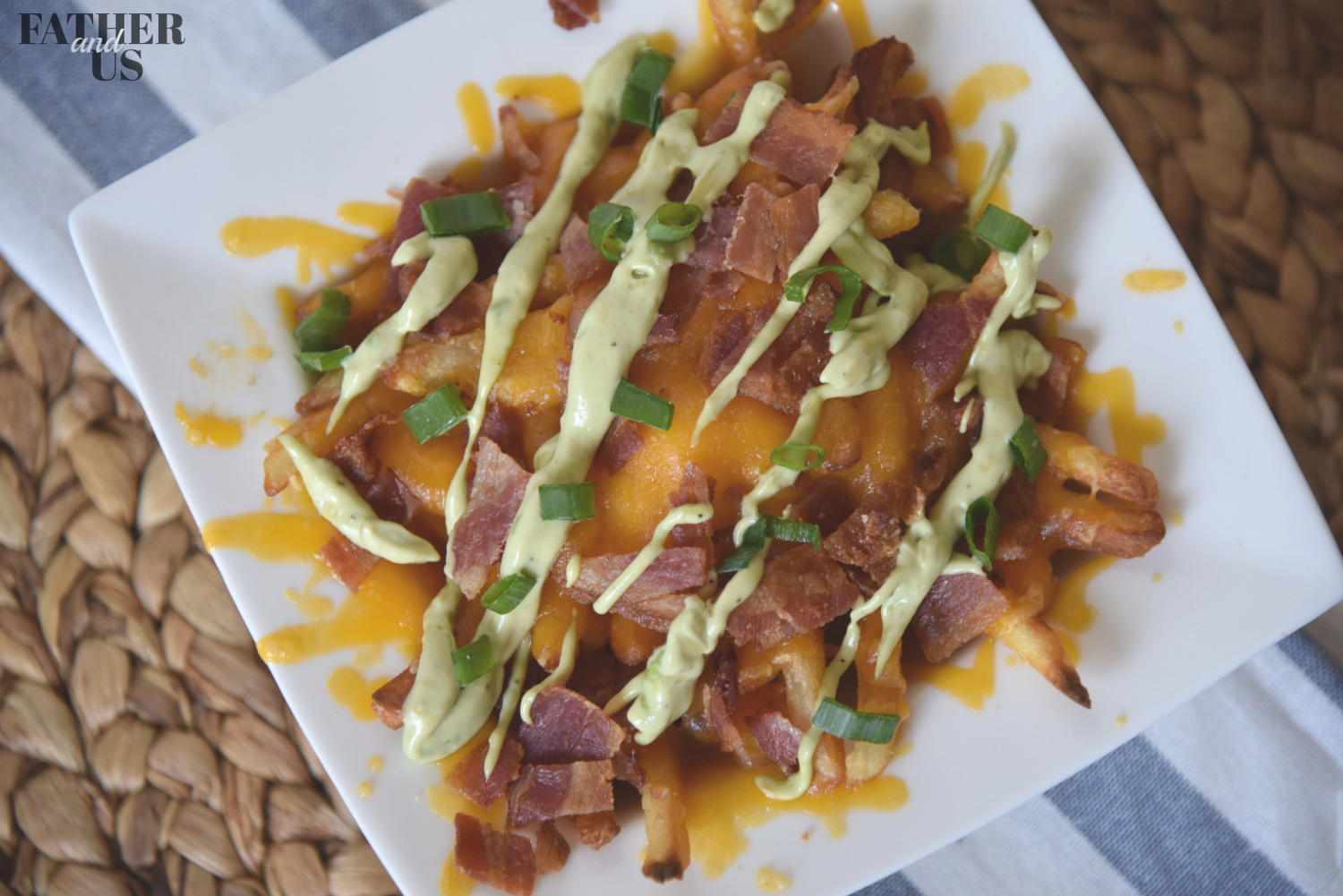 Loaded fries with avocado ranch