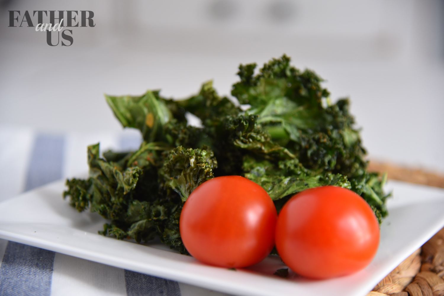air fried kale chips are a great midday snack