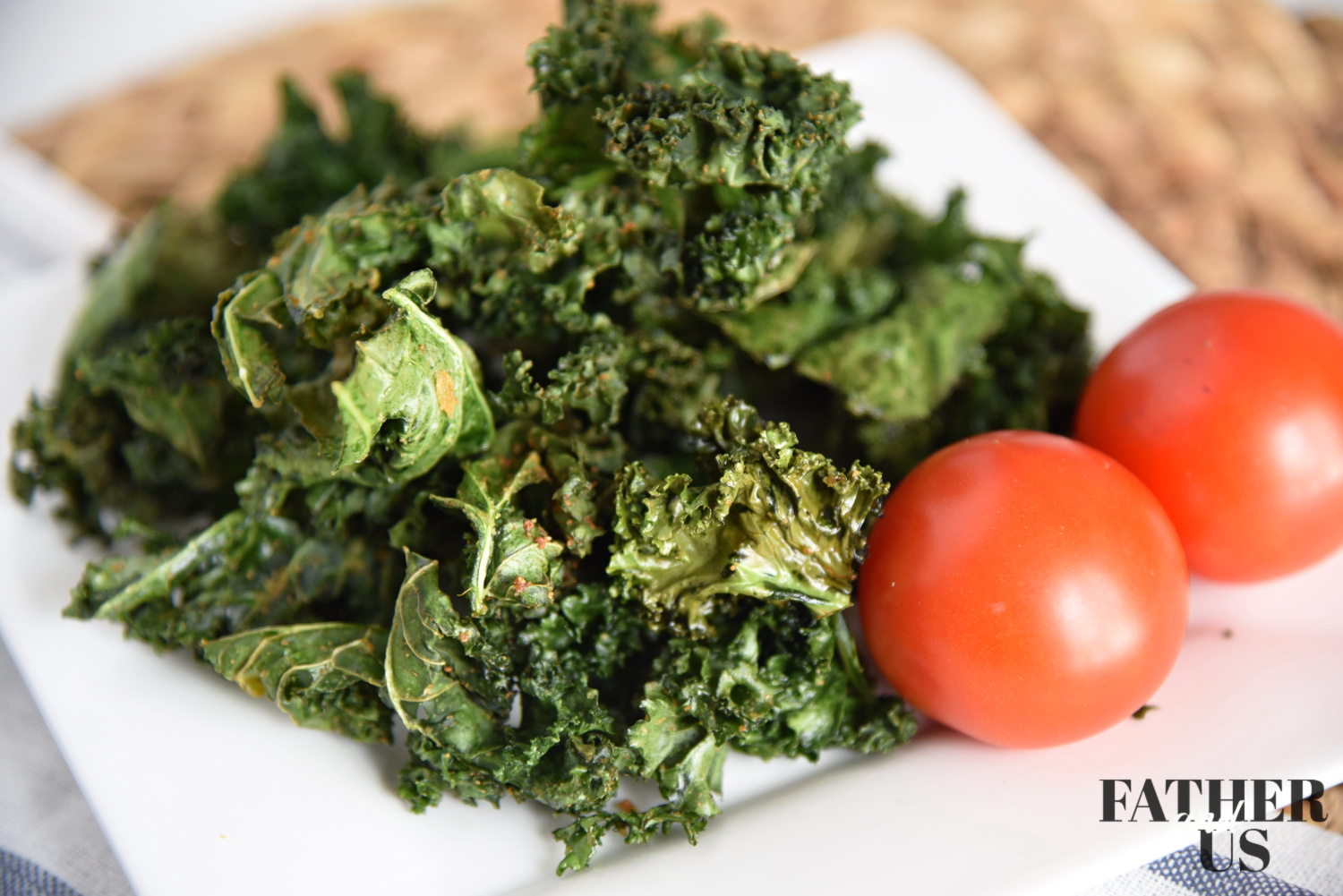air fryer kale chips are the perfect healthy snack