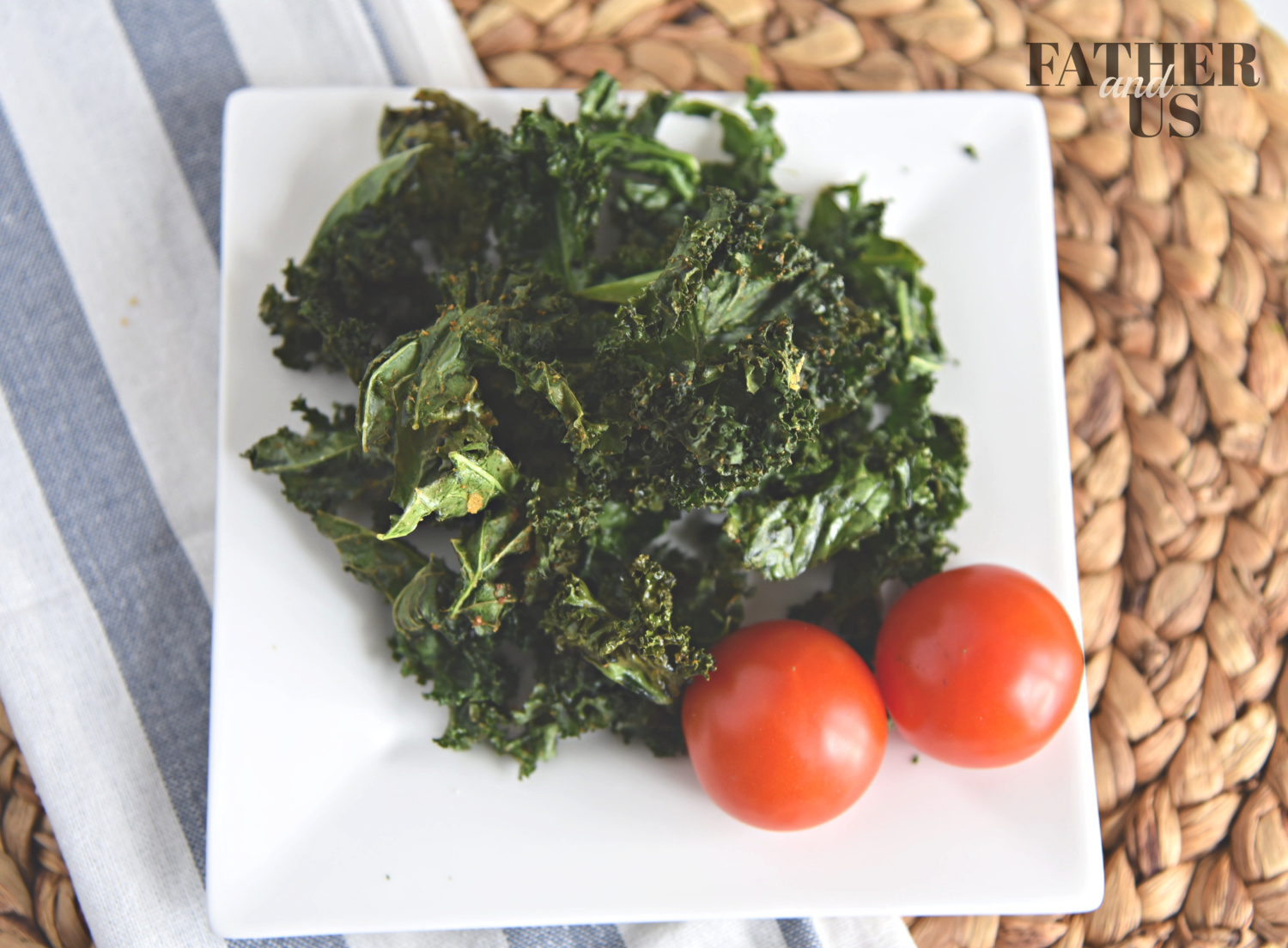 air fryer kale can be served with ranch dressing or just plain