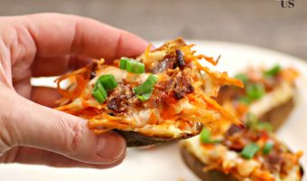 Air Fryer Potato Skins With Buffalo Chicken