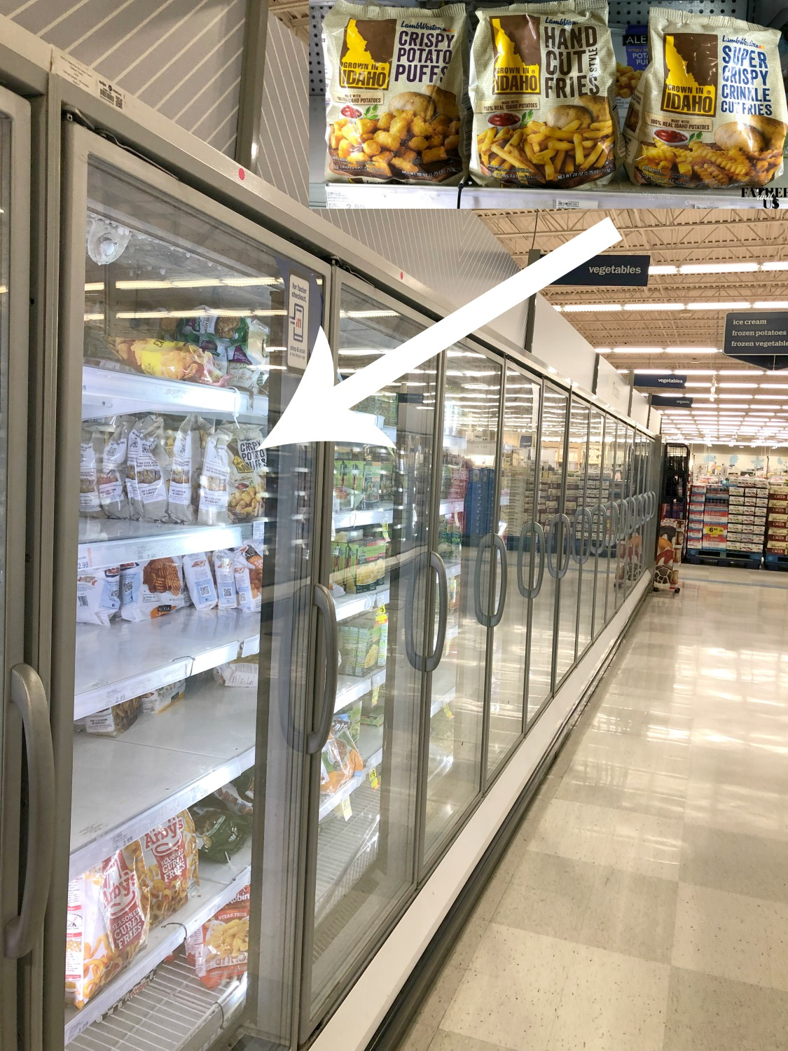 location of potatoes in freezer aisle