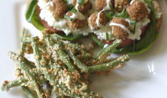 Panko Crusted Air Fryer Green Beans Recipe