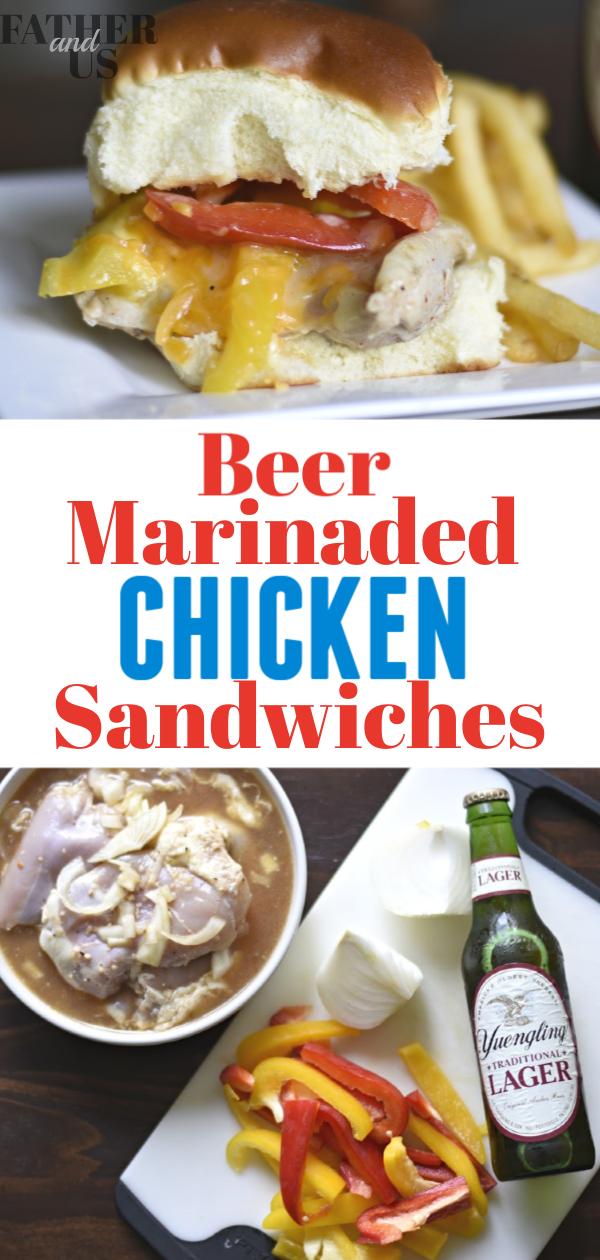 Garlic Beer Chicken Sandwich Pin