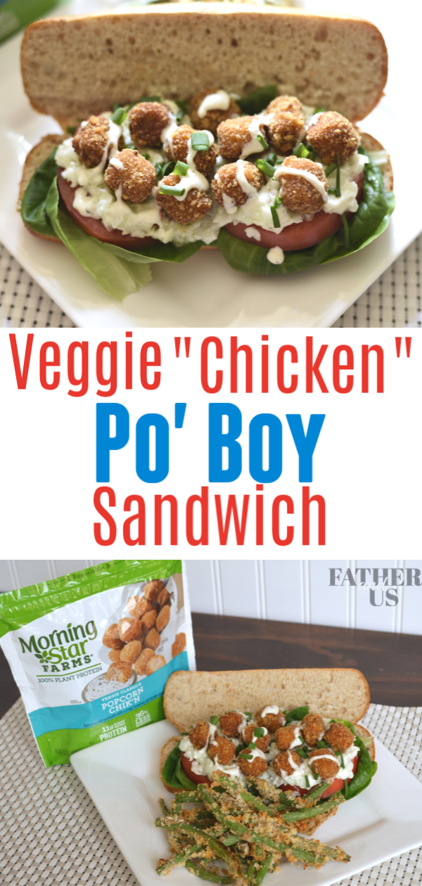 Veggie Chicken Po Boy Pin