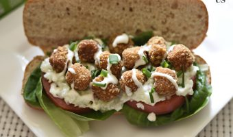 "Veggie ""Chicken"" Po' Boy Sandwich"