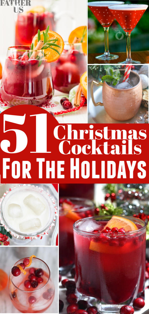 Christmas Cocktails Pin