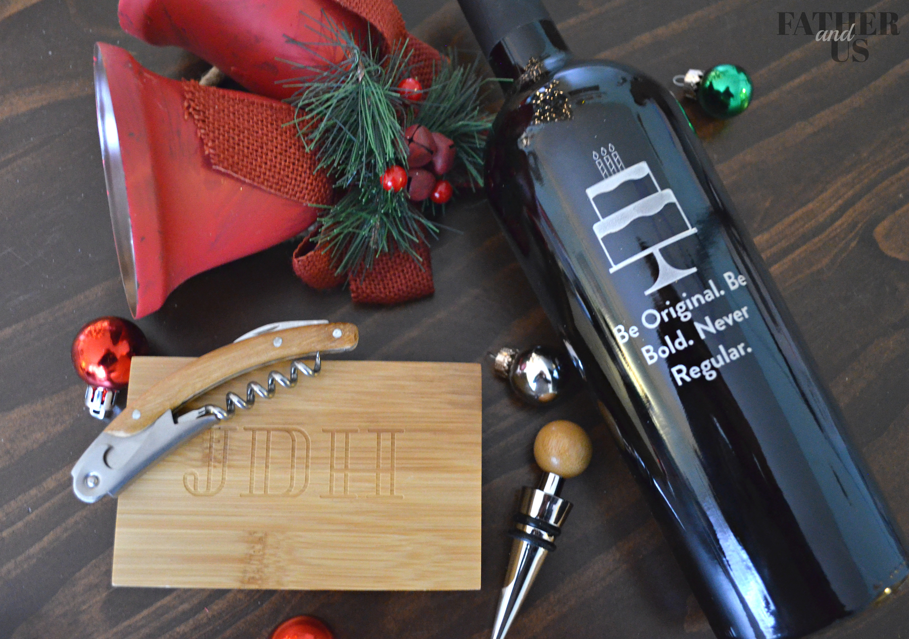 Christmas Gifts for guys-Personalized wine set