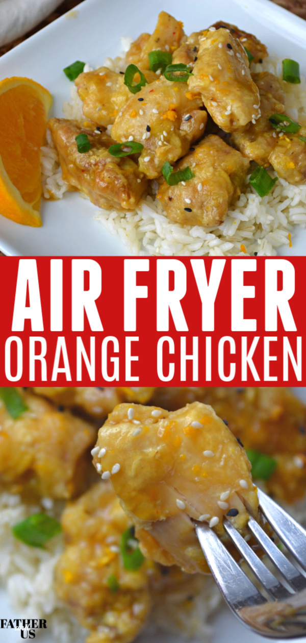 Air Fryer Orange Chicken Pin 1