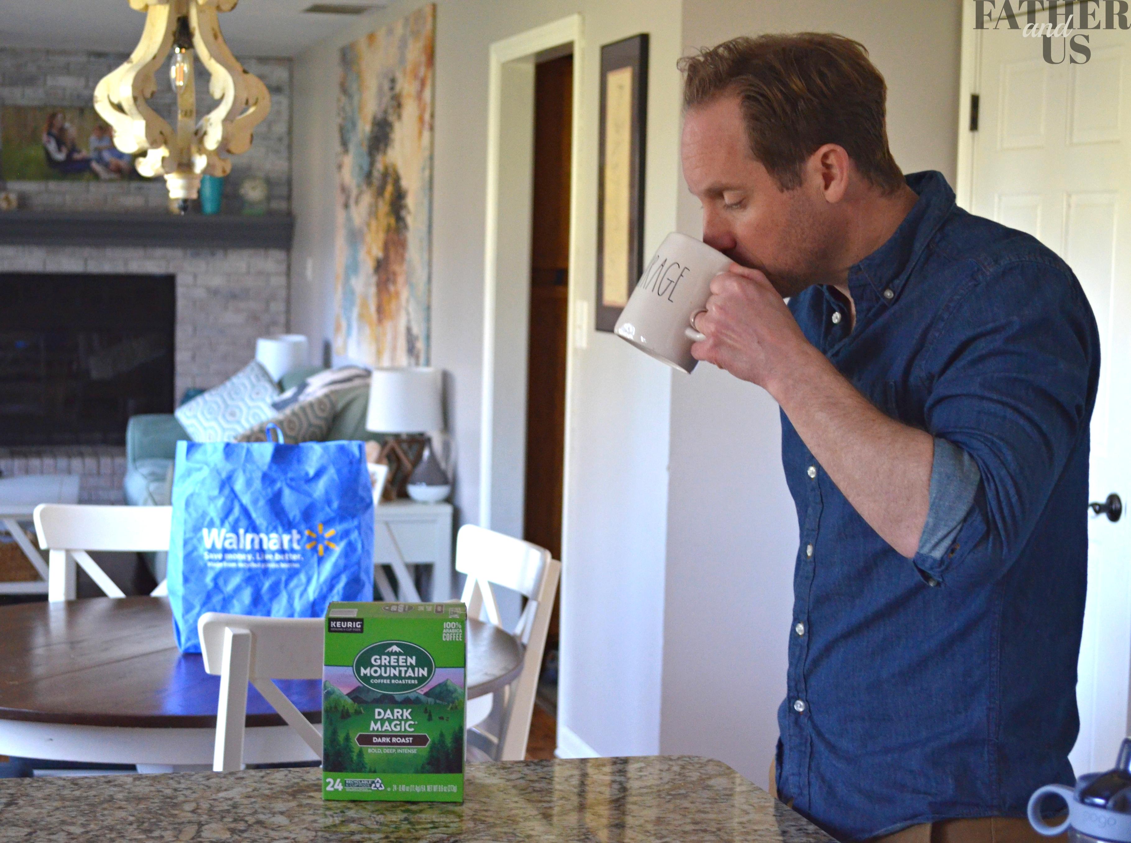 Drinking Green Mountain Coffee