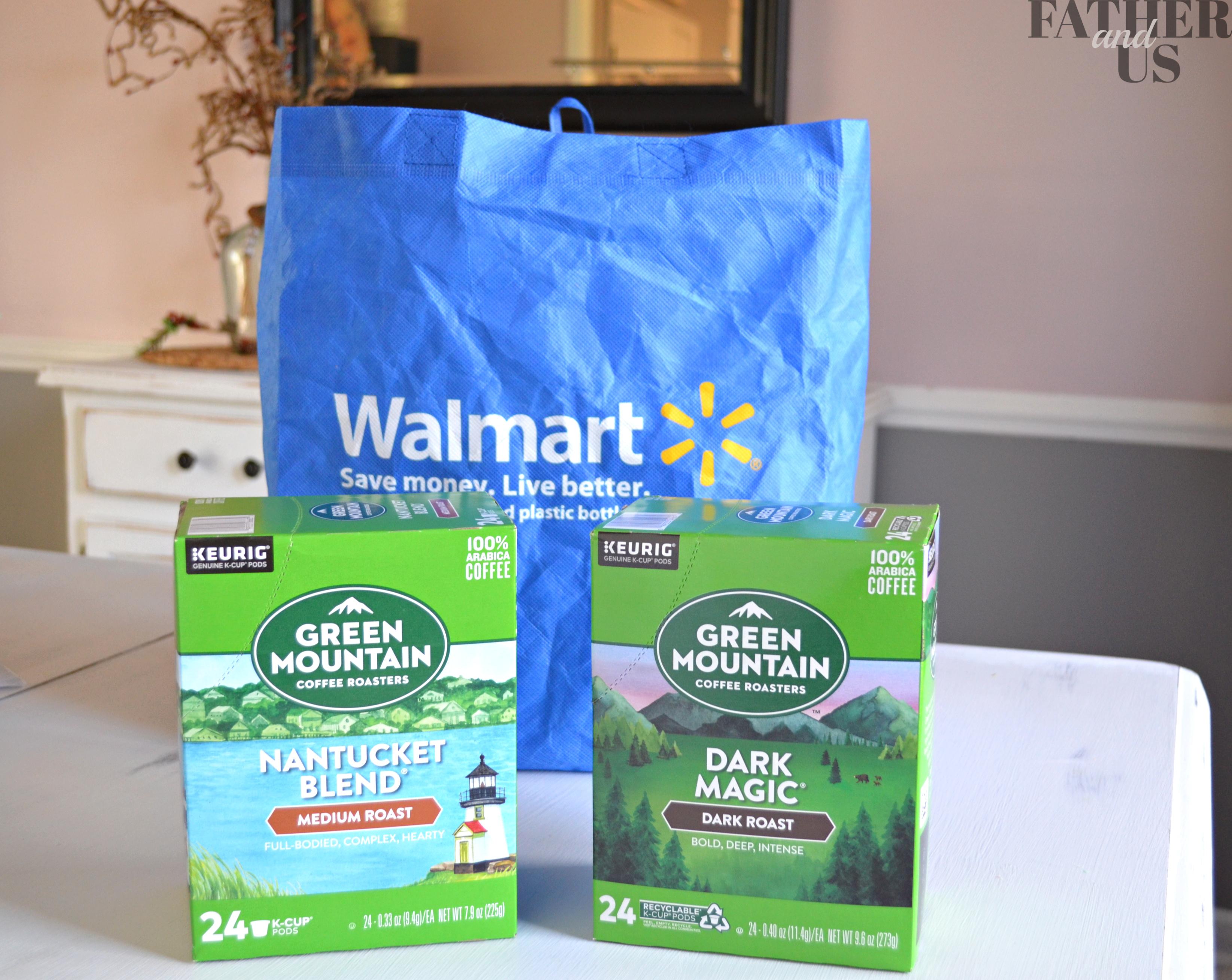 Green Mountain Coffee and Walmart Bag