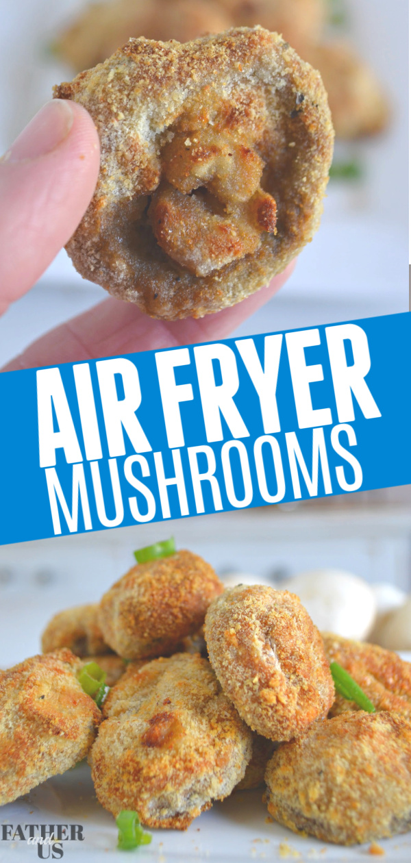 Air Fryer Crispy Mushrooms Pin 1