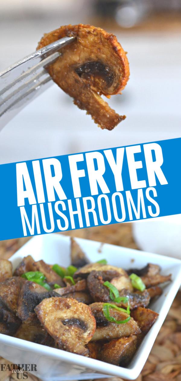 Air Fryer Healthy Mushrooms Pin 1