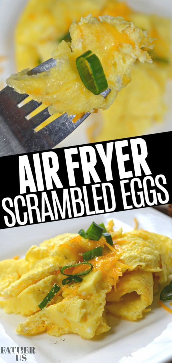 Air Fryer Scrambled Eggs Pin 1