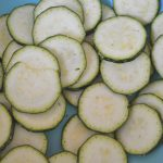 Cut Zucchini into thin chips.