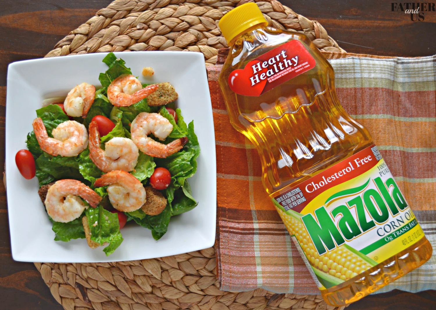 Crispy Air Fried Shrimp Salad