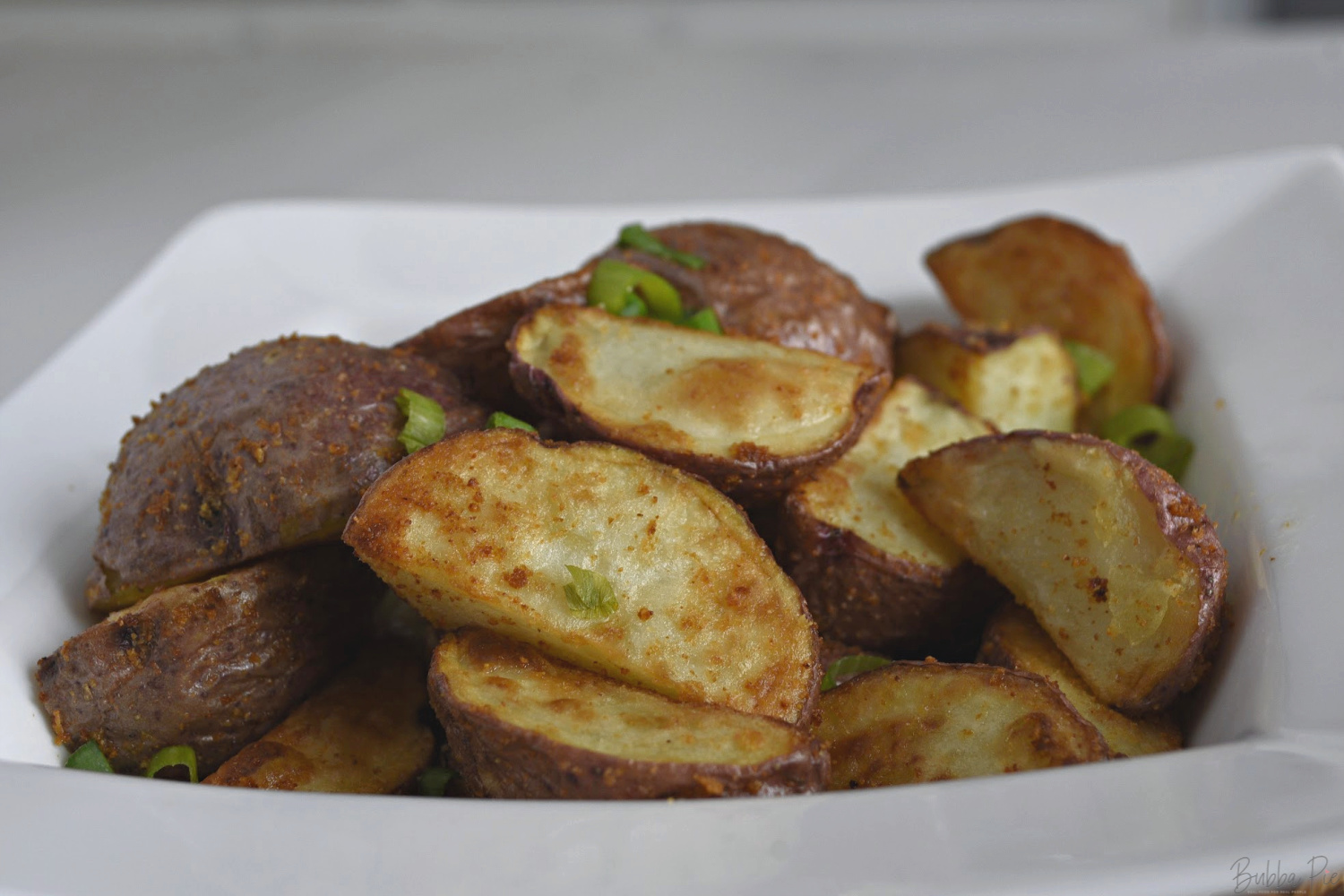 Air Fried Potato Wedges being served for dinner.