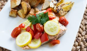Mediterranean Salmon Foil Packet Recipe