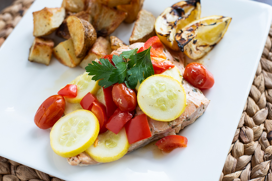 Mediterranean Salmon Foil Packet
