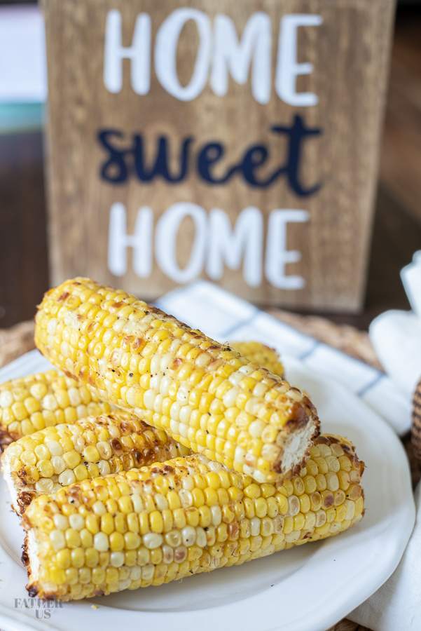 Air Fried Corn on the cob is an easy and delicious side dish recipe.