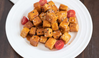 Sweet and Spicy Air Fryer Tofu