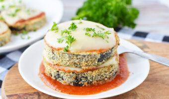 Air Fryer Eggplant Parmesan